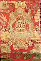 Chenrezig, Red Background, unframed