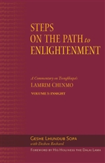 Steps on the Path to Enlightenment: A Commentary on Tsongkhapa's Lamrim Chenmo - Volume 5: Insight  By: Geshe Lhundub Sopa, Dechen Rochard